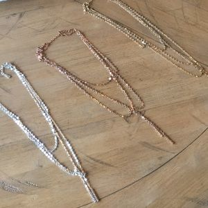 3 BaubleBar Layered Coin Necklaces